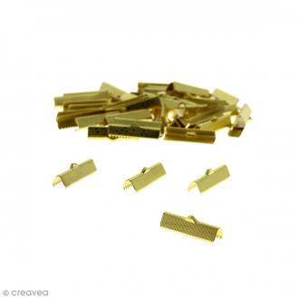 Fermoir ruban 25 mm Doré - 50 pcs