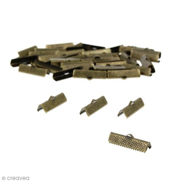 Fermoir ruban 25 mm Bronze - 50 pcs - Photo n°1