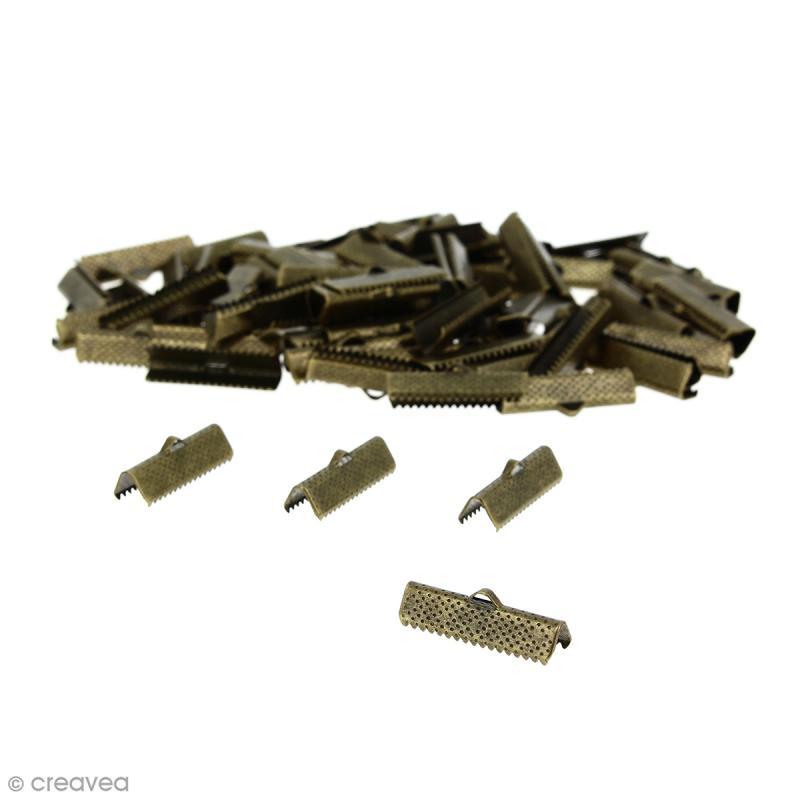 Fermoir ruban 25 mm Bronze - 100 pcs - Photo n°1