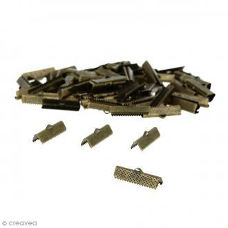 Fermoir ruban 25 mm Bronze - 100 pcs