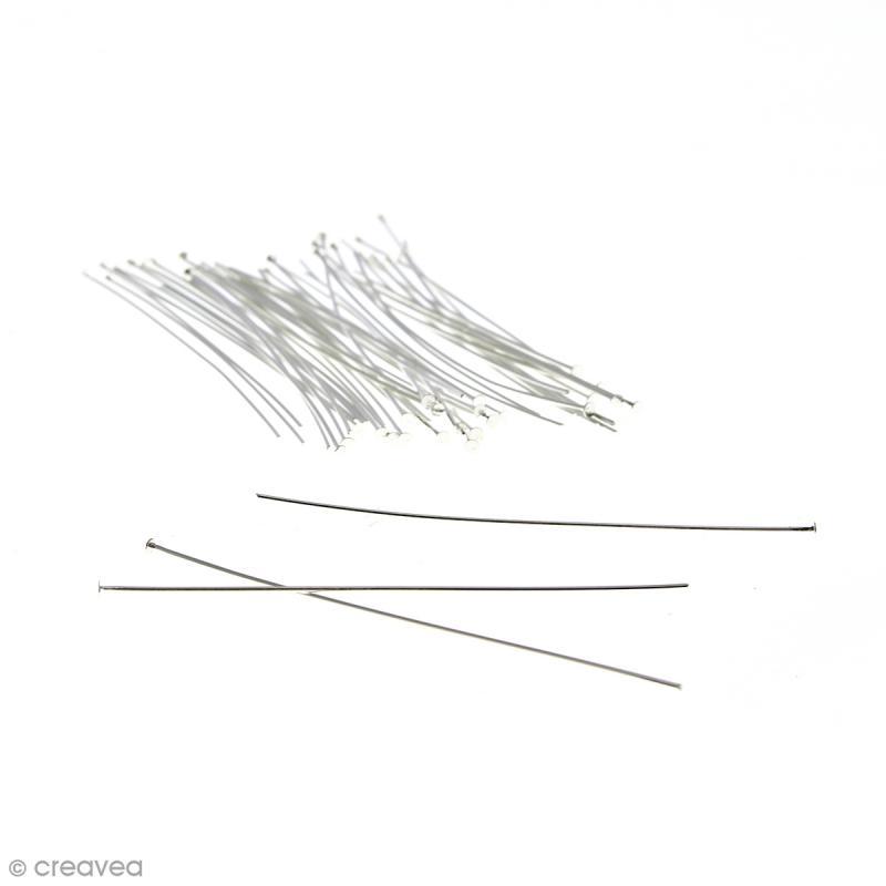 Clous à tête plate 70 mm - Argenté - 50 pcs - Photo n°1