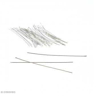 Clous à tête plate 70 mm - Argenté - 50 pcs