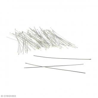 Clous à tête plate 70 mm - Argenté - 100 pcs