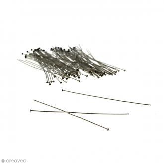 Clous à tête plate 70 mm - Argenté vieilli - 100 pcs