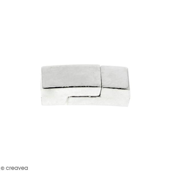 Fermoir aimanté - rectangle - 1,7 x 0,7 cm - Argenté - 1 pce - Photo n°1