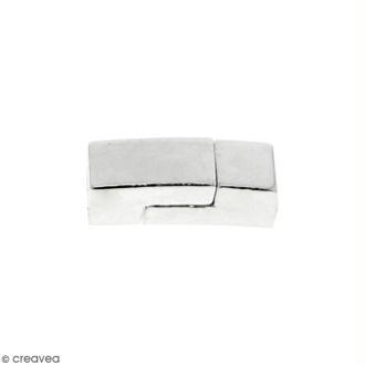 Fermoir aimanté - rectangle - 1,7 x 0,7 cm - Argenté - 1 pce