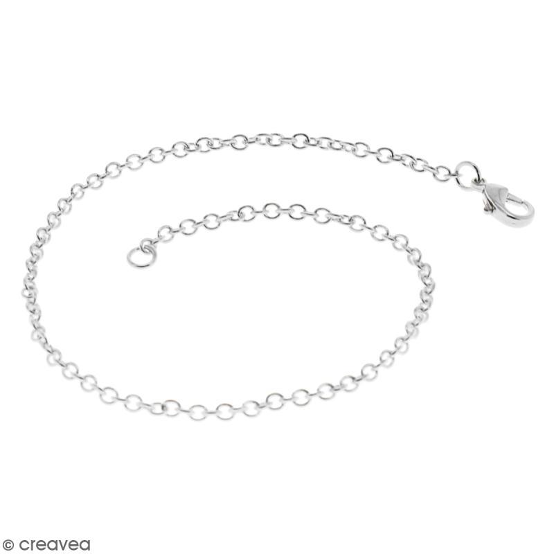 Chaîne de bracelet - 19,5 cm - Argenté - 1 pce - Photo n°1