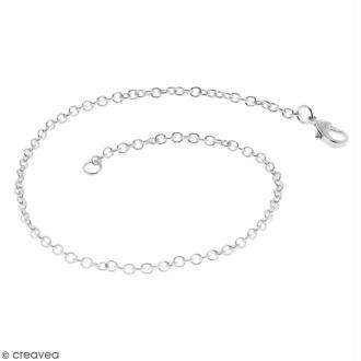 Chaîne de bracelet - 19,5 cm - Argenté - 1 pce
