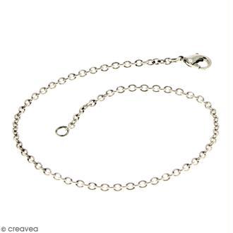Chaîne de bracelet - 21 cm - Argenté vieilli - 1 pce