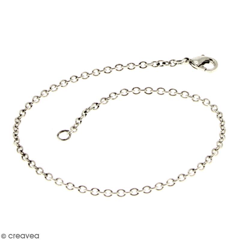 Lot de chaînes de bracelet - 21 cm - Argenté vieilli - 5 pcs - Photo n°2