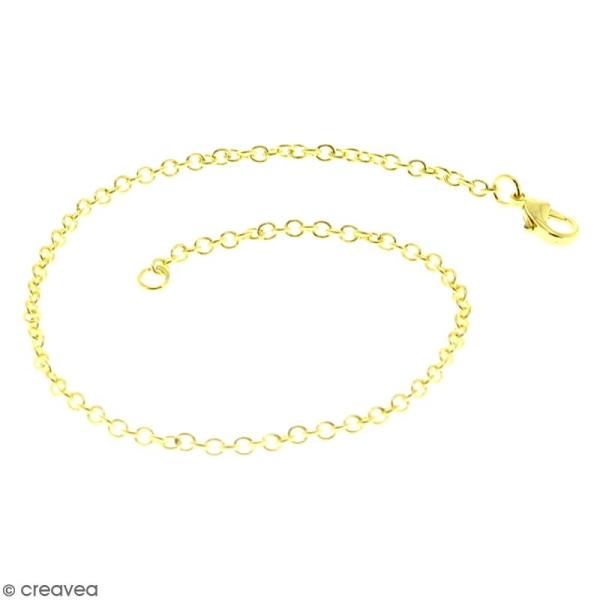 Chaîne de bracelet - 20,5 cm - Doré - 1 pce - Photo n°1