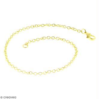Chaîne de bracelet - 20,5 cm - Doré - 1 pce