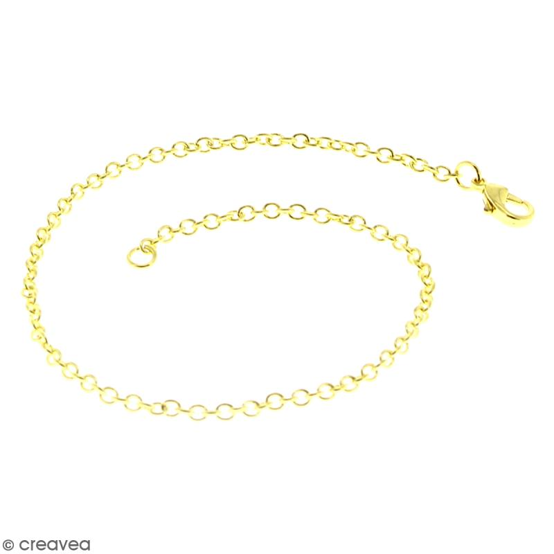 Lot de chaînes de bracelet - 20,5 cm - Doré - 5 pcs - Photo n°2