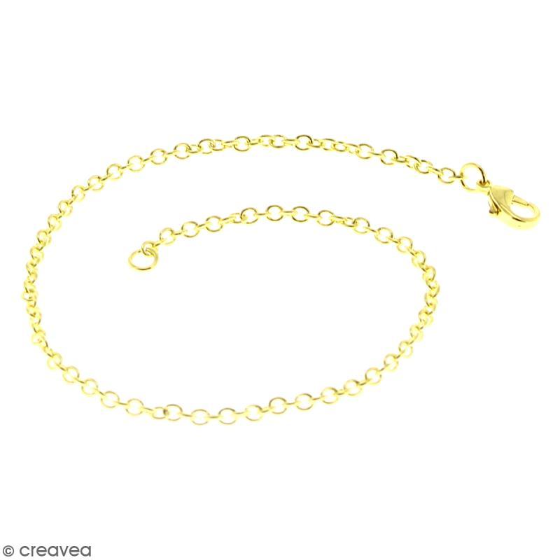 Lot de chaînes de bracelet - 20,5 cm - Doré - 10 pcs - Photo n°2