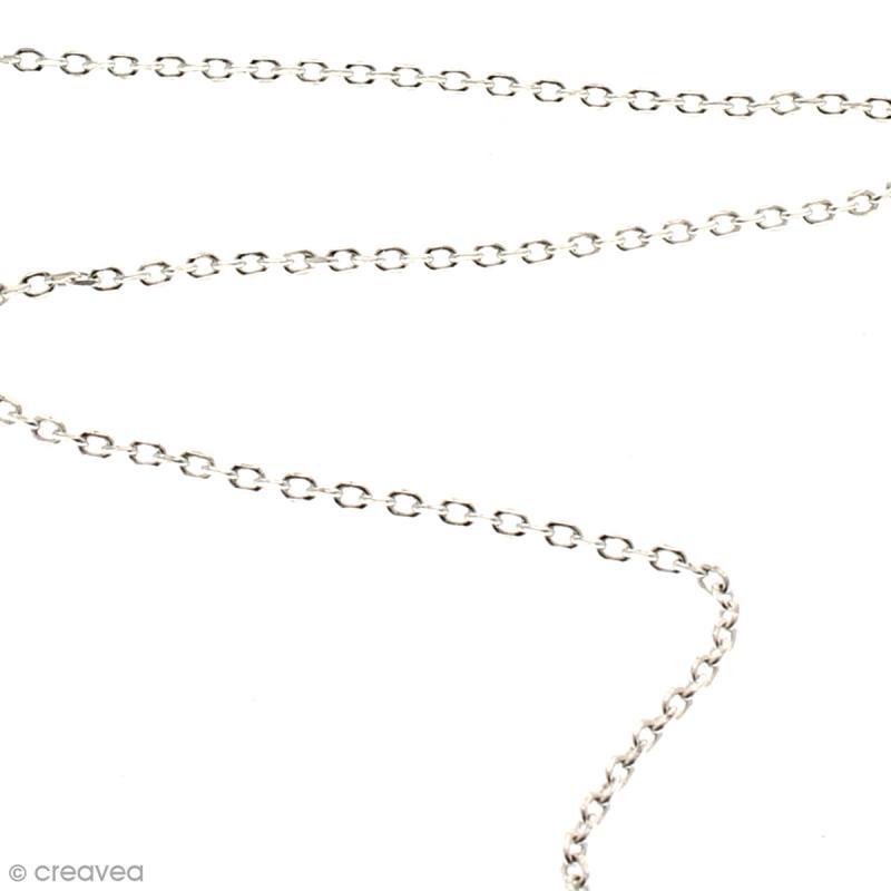 Chaîne maillons ovales 3 mm - Argenté - Au mètre (sur mesure) - Photo n°2