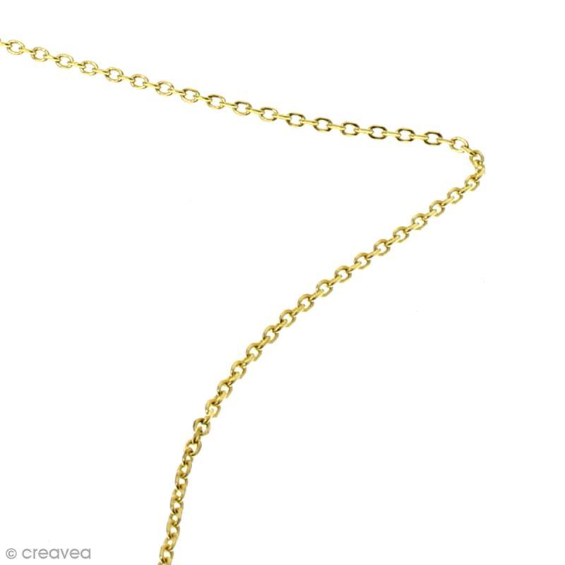 Chaîne maillons  ovales 3 mm - Doré - Au mètre (sur mesure) - Photo n°2