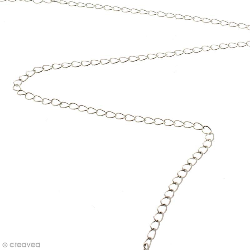 Chaîne maillons  ronds 3 mm - Argenté - Au mètre (sur mesure) - Photo n°2