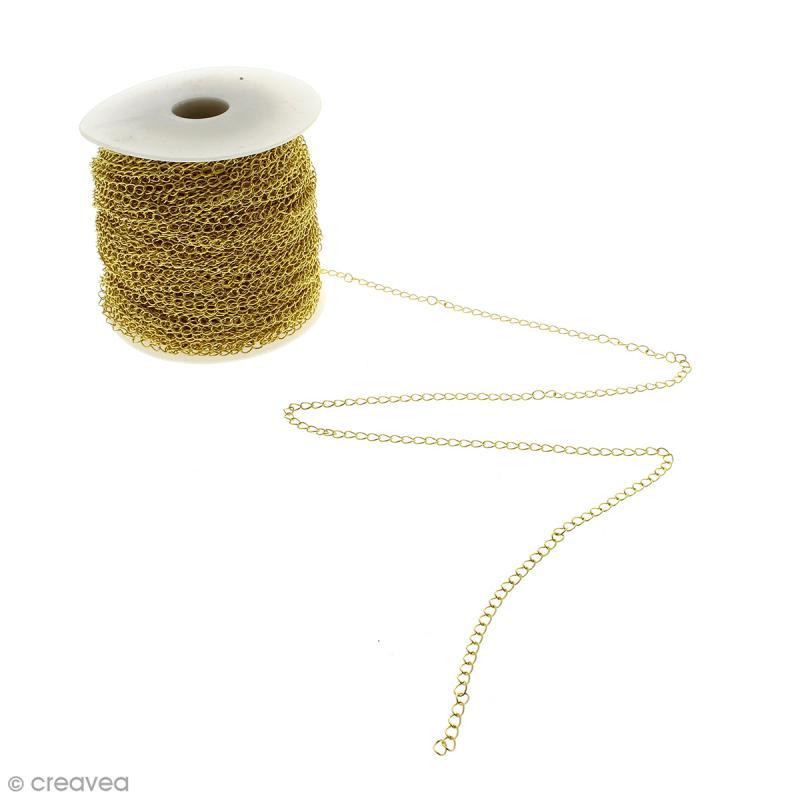 Chaîne maillons  ronds 5 mm - Doré - Au mètre (sur mesure) - Photo n°1