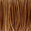 Fil en cuir Naturel 2 mm - Au mètre (sur mesure)