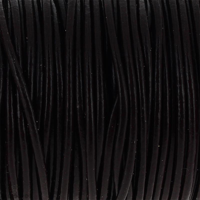 Fil en cuir Marron 2 mm - Au mètre (sur mesure) - Photo n°1