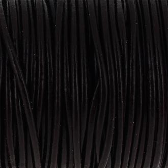 Fil en cuir Marron 2 mm - Au mètre (sur mesure)
