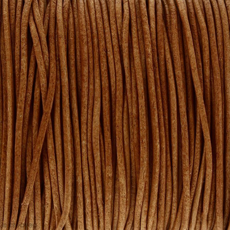 Fil en cuir Naturel 1 mm - Au mètre (sur mesure) - Photo n°1