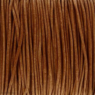 Fil en cuir Naturel 1 mm - Au mètre (sur mesure)