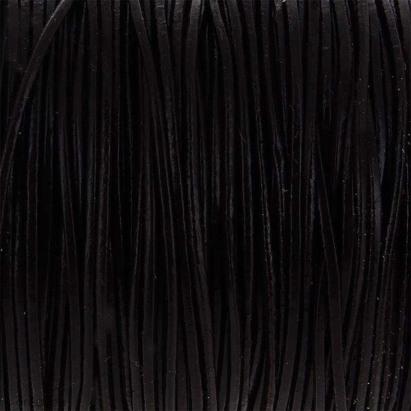 Fil en cuir Marron 1 mm - Au mètre (sur mesure) - Photo n°1