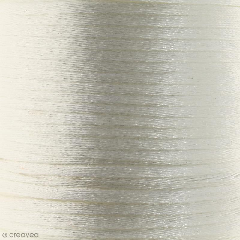 Cordon queue de rat Blanc - 2 mm - 25 mètres - Photo n°1