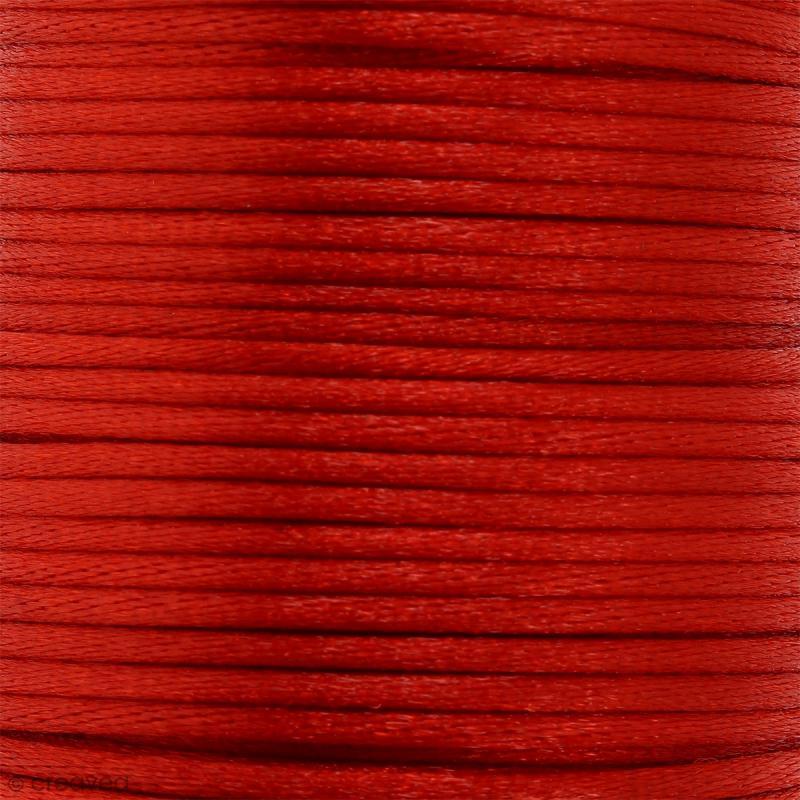 Cordon queue de rat Rouge - 2 mm - 25 mètres - Photo n°1