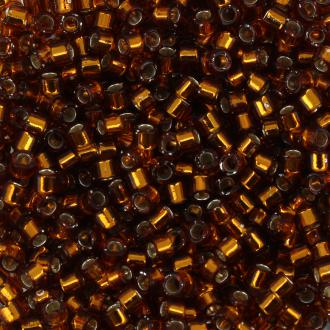 Perles Miyuki Delica 11/0 - DB0144 - Silver Lined Amber - 5g