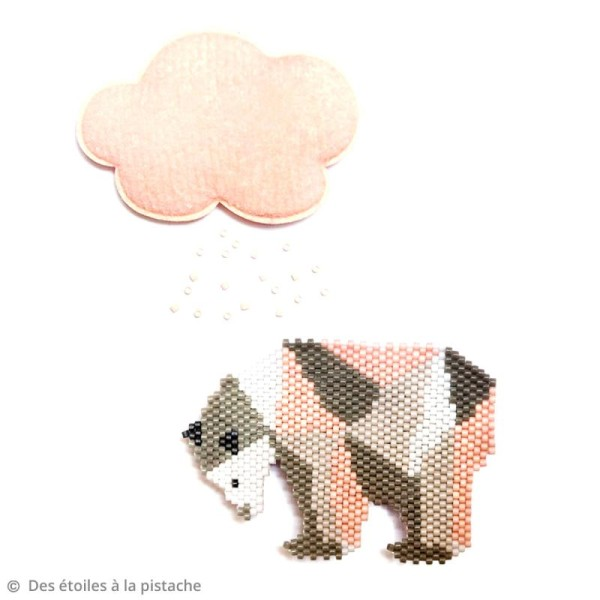 Perles Miyuki Delica 11/0 - DB1504 - Opal Pale Rose AB - 5g - Photo n°2
