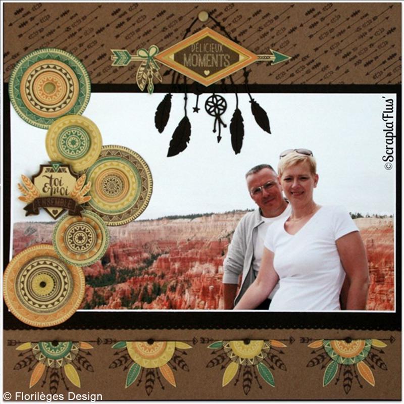 Tampon Bois Journée fléchée - 6 x 8 cm - Photo n°3