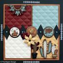 Tampon Bois Journée fléchée - 6 x 8 cm - Photo n°2