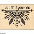 Tampon Bois Journée fléchée - 6 x 8 cm - Photo n°1