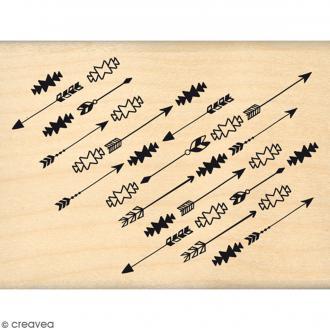 Tampon Bois Fines flèches - 6 x 8 cm