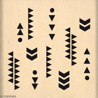 Tampon Bois Fins motifs - 4 x 4 cm