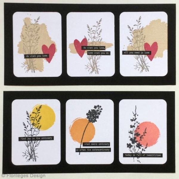 Tampon Bois Petit coup de pinceau - 3 x 10 cm - Photo n°2