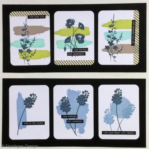 Tampon Bois Petit coup de pinceau - 3 x 10 cm - Photo n°3