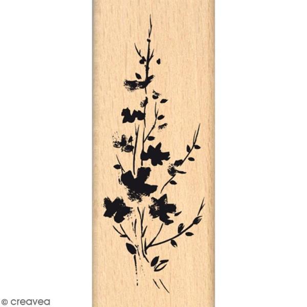 Tampon Bois Bouquet fondu - 4 x 10 cm - Photo n°1