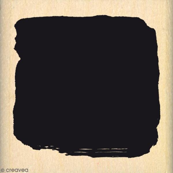 Tampon Bois Carré de fond - 5 x 5 cm - Photo n°1