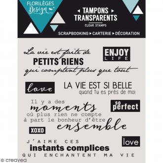 Tampons clear Petits riens - 9 pcs