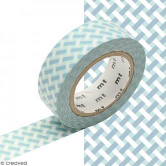 Masking tape Tressage bleu - 1,5 cm x 10 m