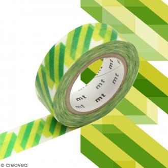 Masking tape Crystal Vert - 1,5 cm x 10 m