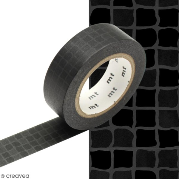 Masking tape Carrelage noir - 1,5 cm x 10 m - Photo n°1