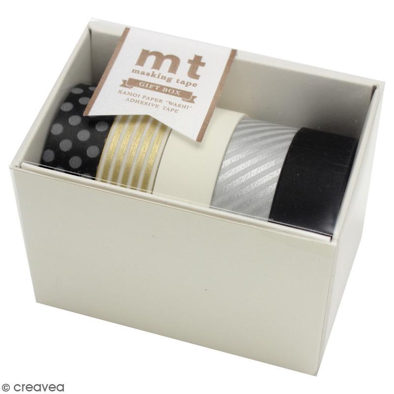 Assortiment Masking Tape Gold Silver - 5 rouleaux de 15 mm x 10 mètres - Photo n°1