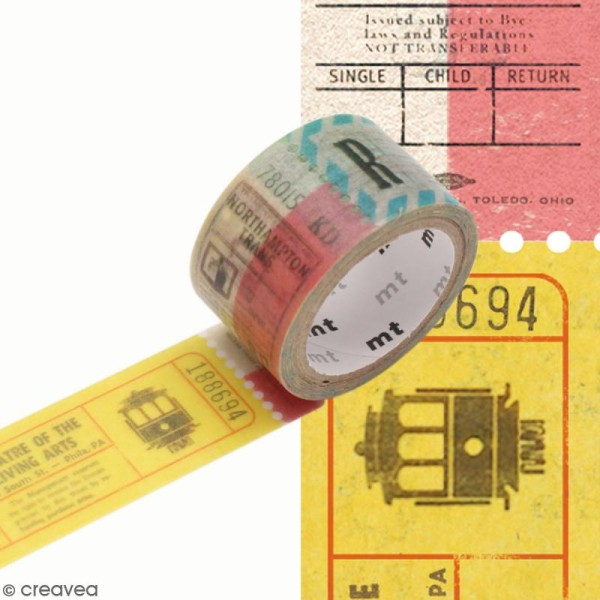 Masking tape Tickets - 2 cm x 3 m - Photo n°1