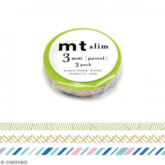 Masking tape Slim pastel - 3 mm x 10 m