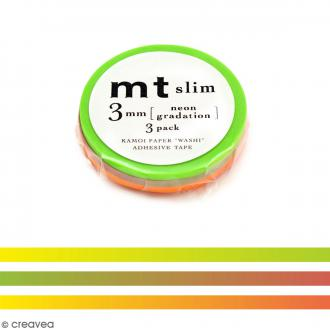 Masking tape Slim Néon - 3 mm x 10 m