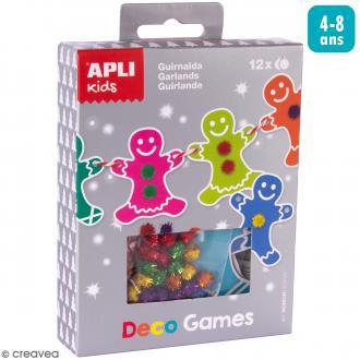Kit Deco Games Suspensions de Noël - Guirlande - 12 formes à personnaliser